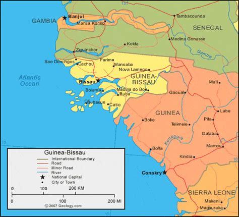 guinea bissau political map guinea bissau map and satellite image