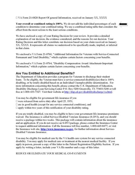 Proof Of Disability Letter Va Va Disability Verification Letter Docoments Ojazlink