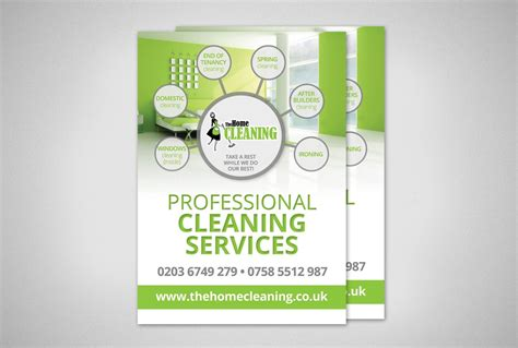 home design services online cleaning company flyer design design
