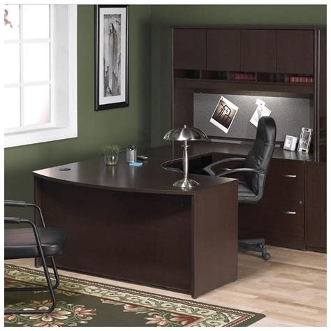 Front Office Desks Bush Business Series C 4 U Shape Right Bow Front Desk Bsc019 129 Pkg2