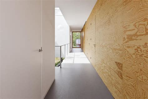 plywood interior design minimalist home uses pine ply as feature design element