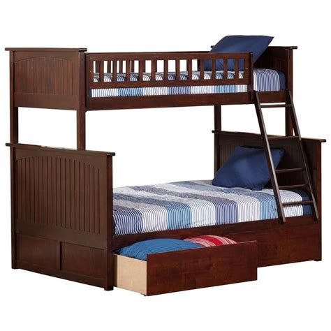 atlantic furniture bunk bed atlantic furniture nantucket urban twin over full storage