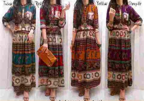 Etnik Maxy By Fashion maxi dress etnik batik katun rayon bangkok belt baju