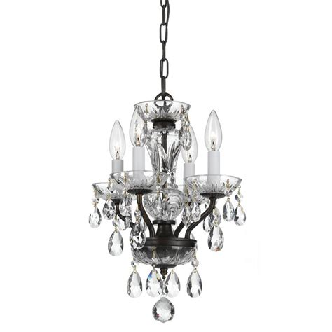 Small Chandelier Lights Traditional Four Light Bronze Mini Chandelier By