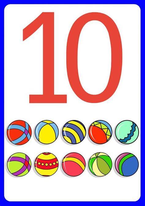 printable number flashcards for toddlers number ten flashcards for kids 171 funnycrafts