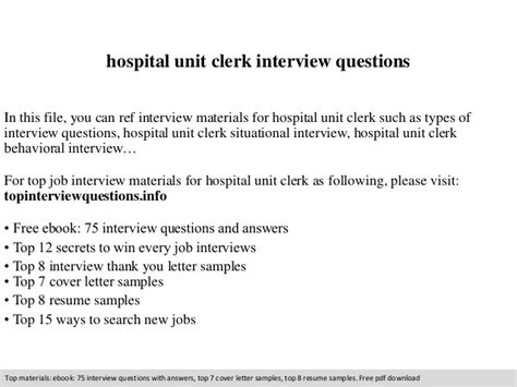 Sample resume unit clerk hospital writing a compare and