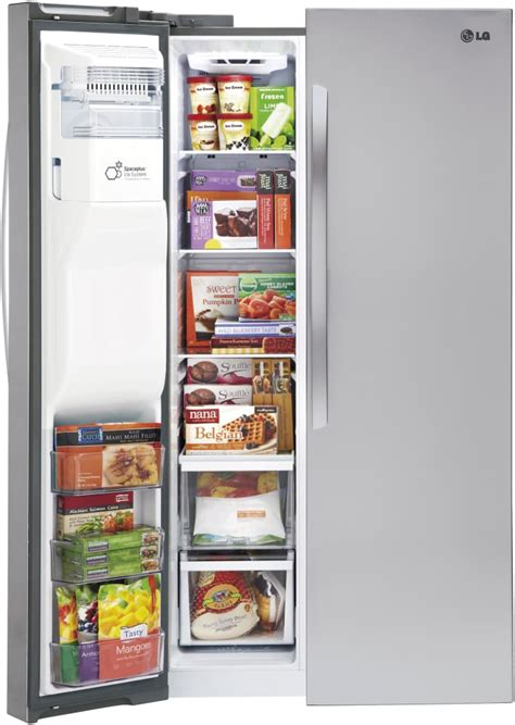 freezer section lg lsxs26326s 36 inch side by side refrigerator with smart