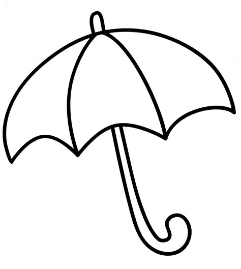 umbrella pattern to color umbrella coloring pages for childrens printable for free