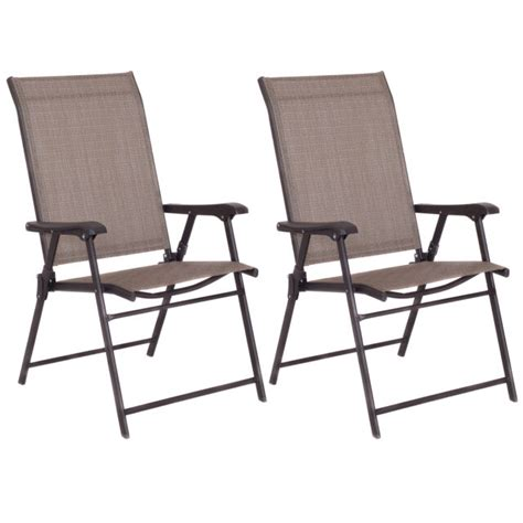 Sling Folding Chairs - patio folding sling chairs steel textilene cing deck