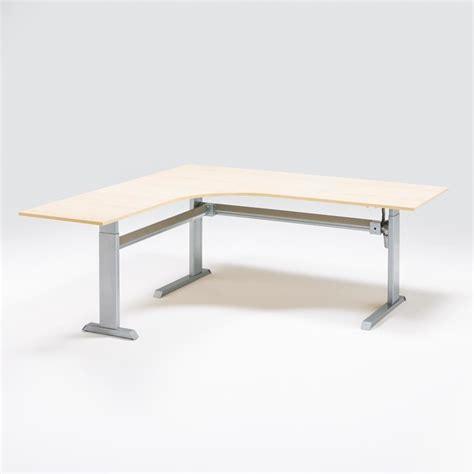 quot flexus quot height adjustable desk l shaped aj products