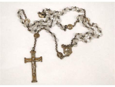 cross with rosary rosary rosary cross 19th