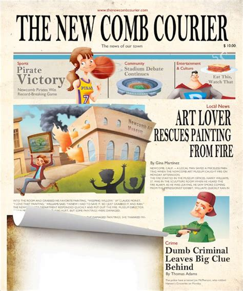 newspaper layout design software free download image result for printable newspaper template cartoons