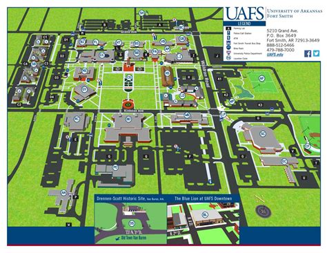 uark cus map uafs cus map by of arkansas fort smith issuu