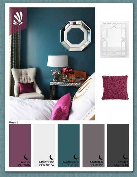 what colour goes with teal for a bedroom love this palettte whose paint colors are these