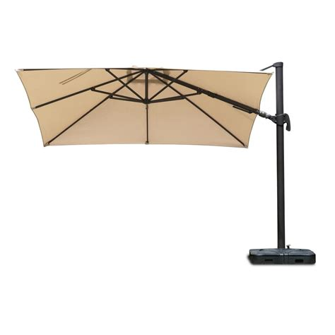 Patio Umbrella Frame Atlantic Contemporary Lifestyle Free Pole Square 10 Ft X