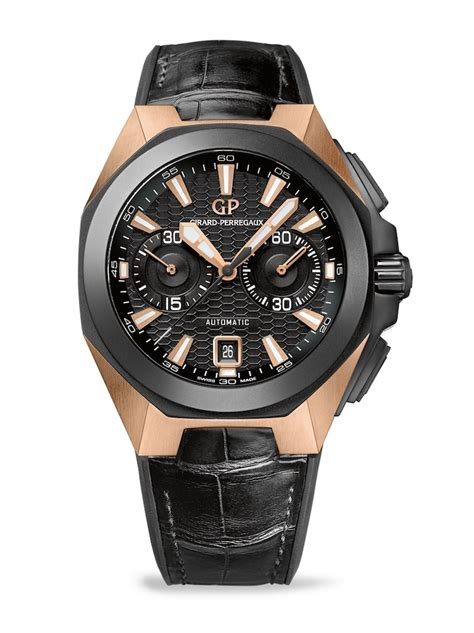 Black Hawk Chrono Black Gold introducing the girard perregaux chrono hawk pink gold live photos pricing monochrome watches