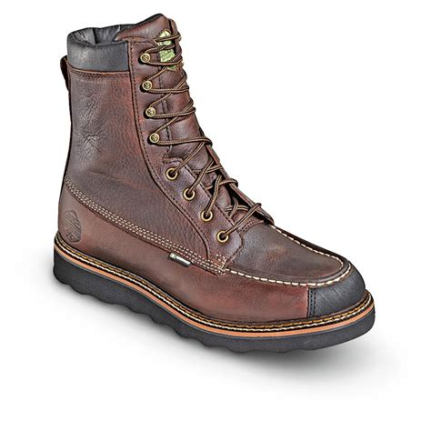 s 8 quot waterproof breathable flyway moc wedge boots