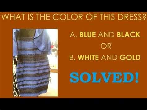 what color is the dress solved with science everyday what is the color of the dress solved with animation