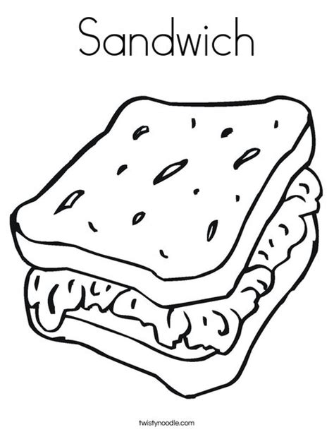 sandwich coloring pages coloring page arsip tembi net