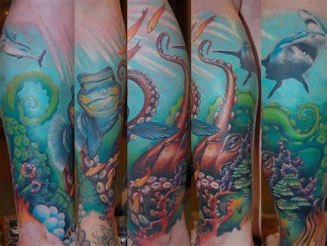 ocean themed tattoo sleeve themed