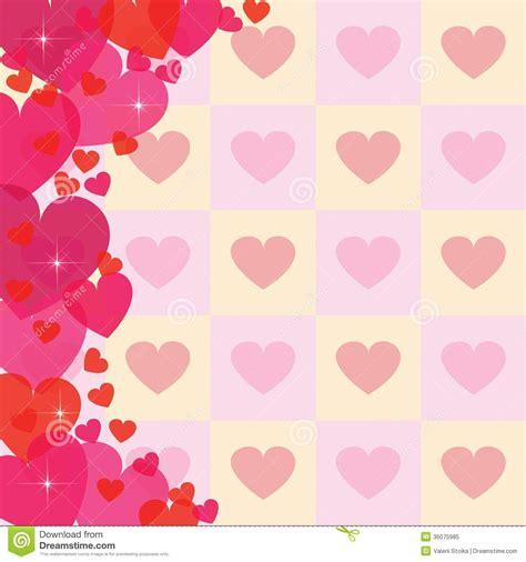 background design heart abstract heart background stock vector image of concept
