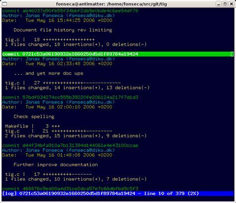 git tig tutorial tig ncurses based text mode interface for git braveterry
