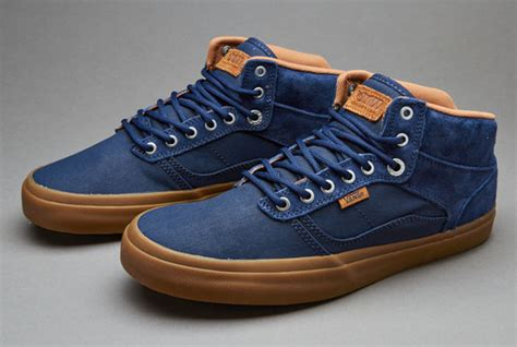 Vans Authentic Dress Navy Blue Gum Brown offer and shoes clothing accessory sale shop