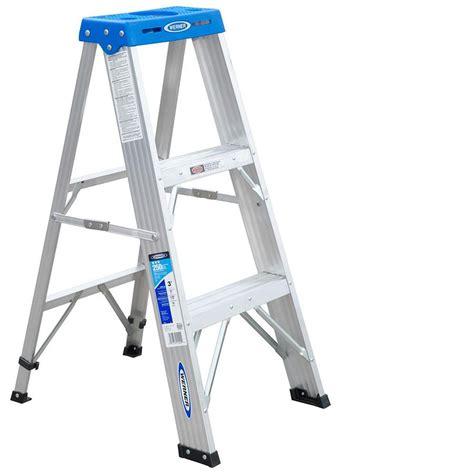 aluminum step stool 2 foot werner 3 step steel step stool werner 3 ft fiberglass