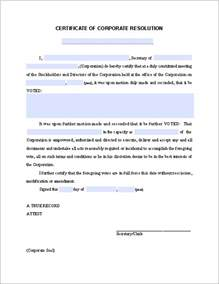 llc resolution template certificate of corporate resolution free fillable pdf forms