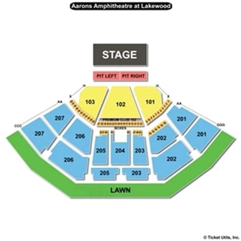 aaron s lakewood hitheatre seating chart lakewood hitheater seating chart lakewood