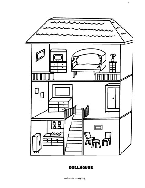 coloring pages of a doll house free coloring pages of dollhouse