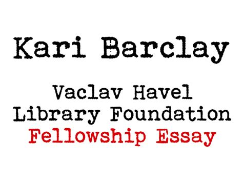 Vaclav Havel Essay The Power Of The Powerless by Contests The Vaclav Havel Library Foundation