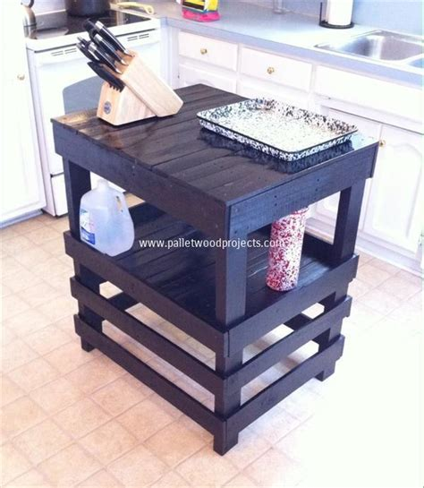 Wooden Kitchen Island Table Recycled Pallet Kitchen Island Table Ideas Pallet Wood