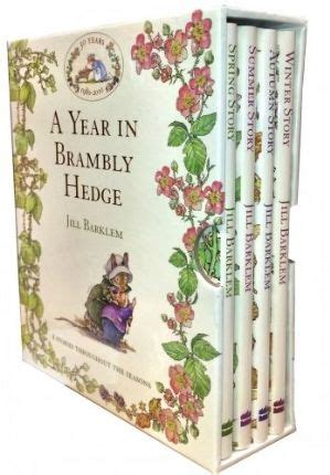 winter story brambly hedge books a year in brambly hedge 4 books box set collection by