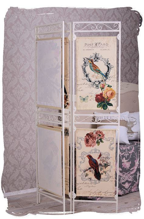 Shabby Chic Room Divider Vintage Room Divider Postcards Motive Screen Wall Shabby Chic Ebay