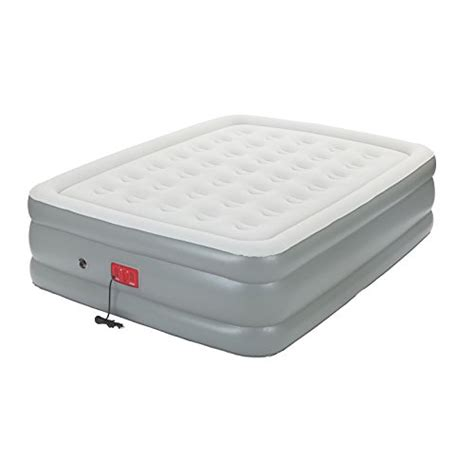 coleman support rest elite air bed with built in 20 quot mattress news