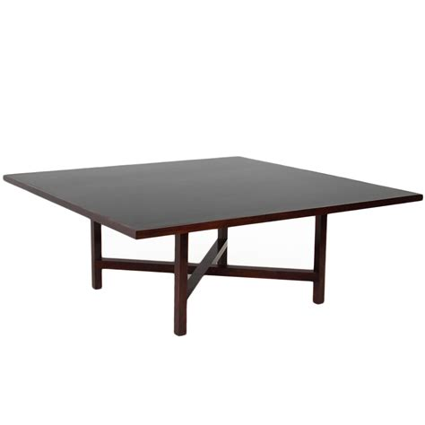large square rosewood dining table from brazil at 1stdibs