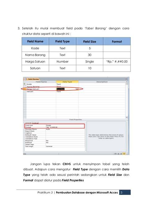 membuat database barang dengan xp membuat database dengan microsoft acces