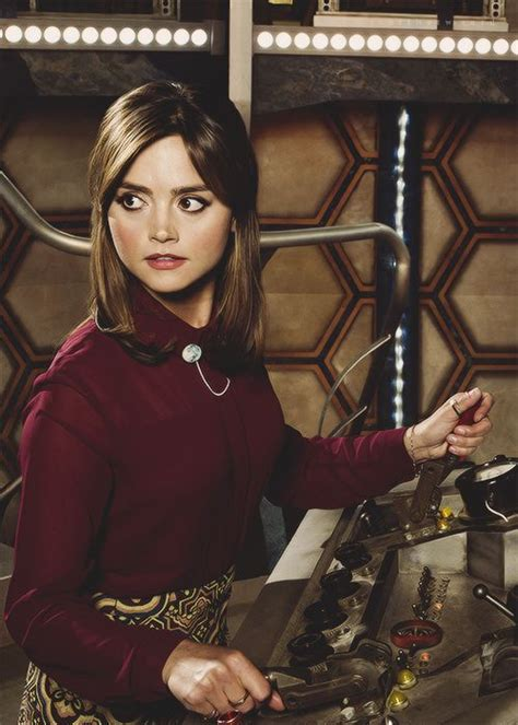 jenna coleman doctor who clara oswald jenna coleman as clara oswald season 8 into the tardis