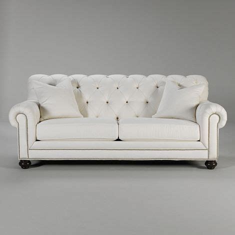 ethan allen chesterfield sofa sofa hubby likes it and it s tufted with nailhead trim