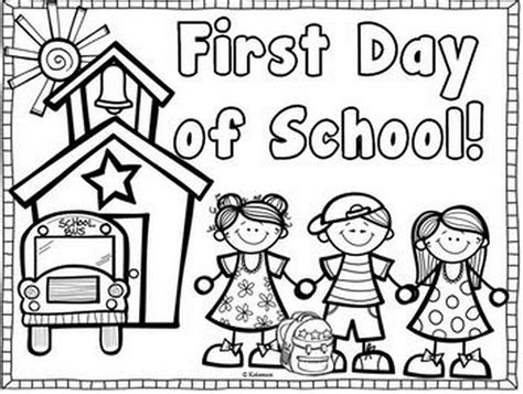 first day of school coloring book