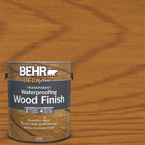behr deckplus  gal natural clear transparent