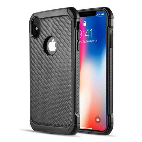 for iphone xs max 6 5 quot carbon fiber cover hybrid shockproof armor ebay