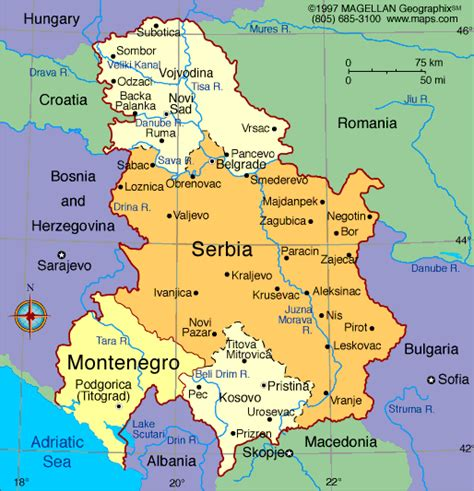 where is serbia on a world map serbia
