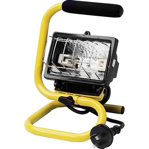 arlec 150w portable halogen worklight bunnings warehouse