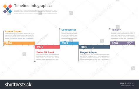 timeline infographics template flowchart workflow process
