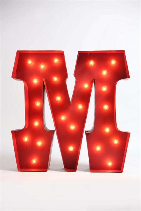 marquee alphabet light clear