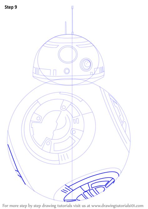 Bb8 Drawing Outline by Learn How To Draw Bb 8 From Wars Wars Step By Step Drawing Tutorials