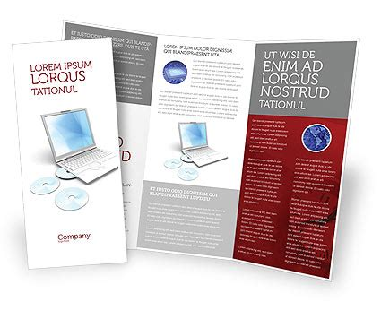 computer laptop brochure template design and layout