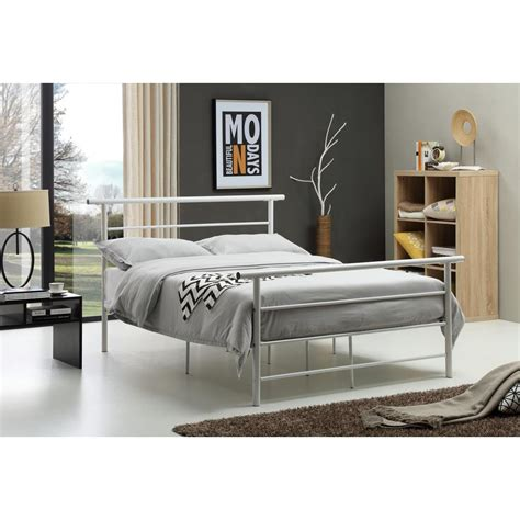 white bed frame twin white twin bed frame hi829 t wh the home depot